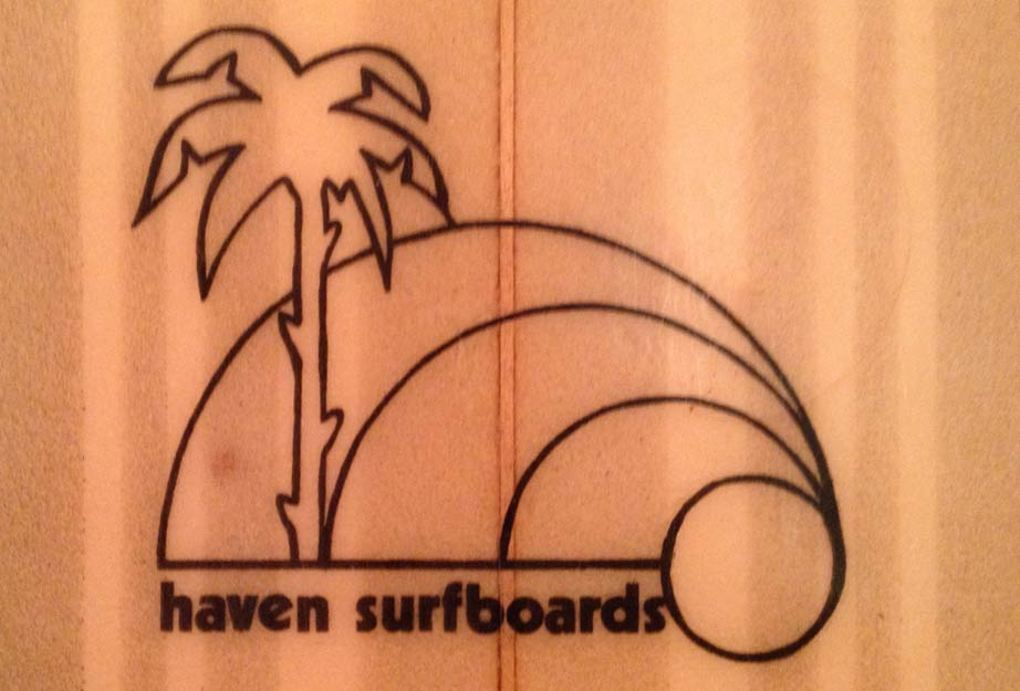 Haven Surfboards - Vintage Surfboard Graphics - Surf Exhibition Cornwall