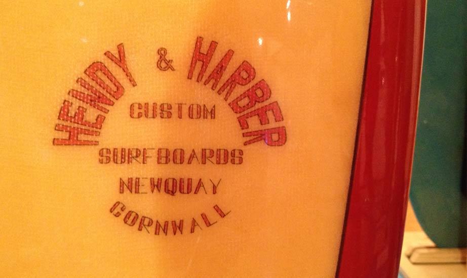 Hendy & Harper Newquay - Vintage Surfboard Graphics - Surf Exhibition Cornwall