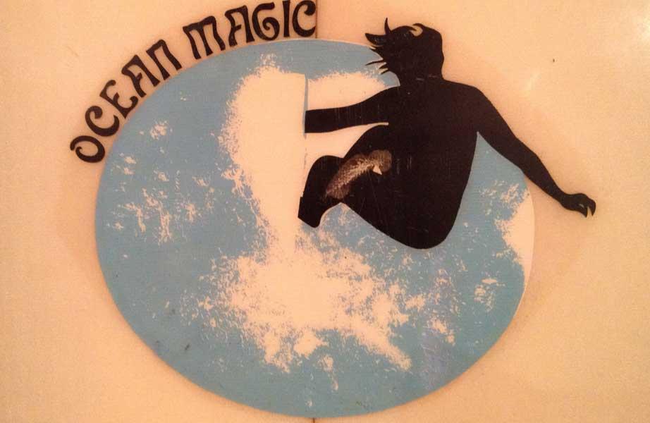 Ocean Magic - Vintage Surfboard Graphics - Surf Exhibition Cornwall