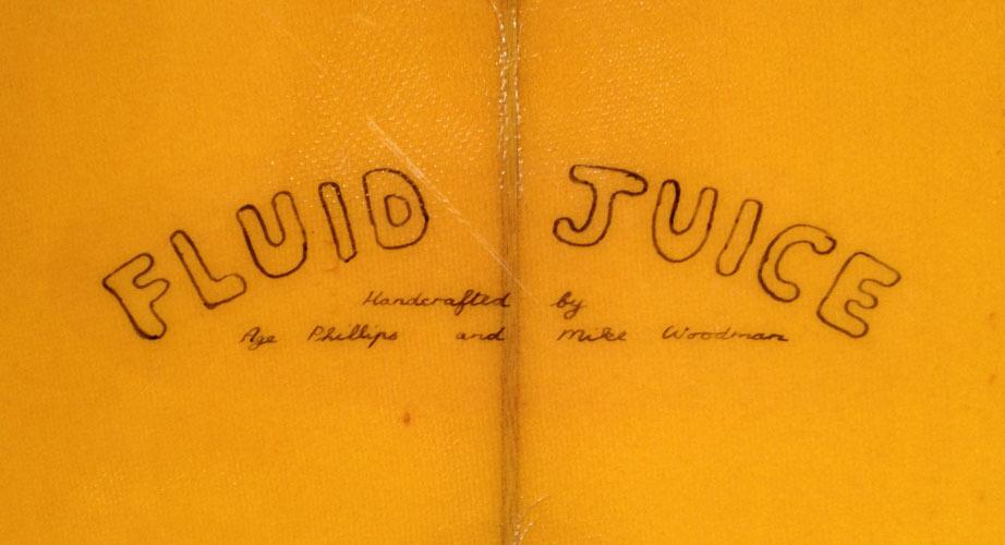 Fluid Juice - Vintage Surfboard Graphics - Surf Exhibition Cornwall