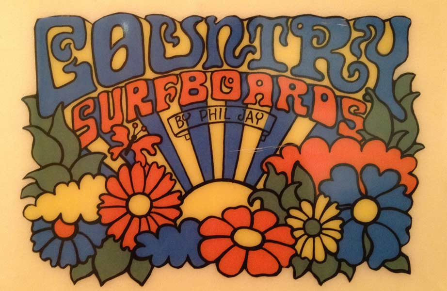 Country Surfboards - Vintage Surfboard Graphics - Surf Exhibition Cornwall