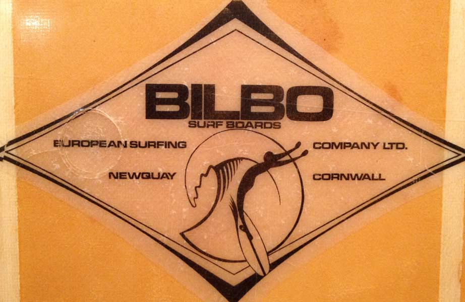 Bilbo Surfboards - Vintage Surfboard Graphics - Surf Exhibition Cornwall