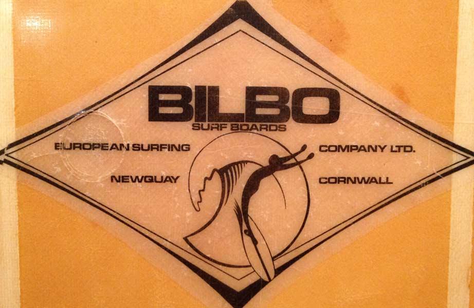 Bilbo Surfboards - Vintage Surfboard Graphics - Surf Exhibition Cornwall