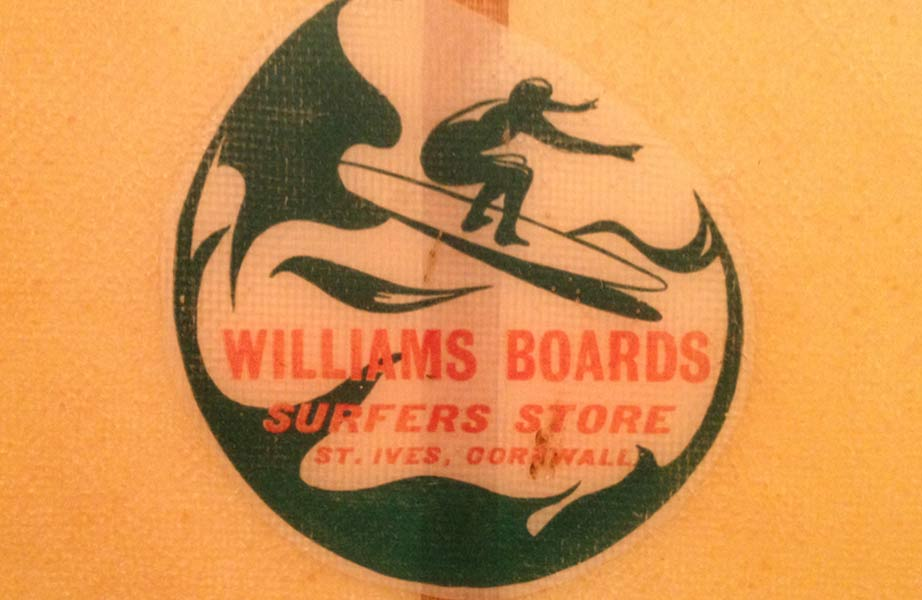 Williams Boards St Ives - Vintage Surfboard Graphics - Surf Exhibition Cornwall