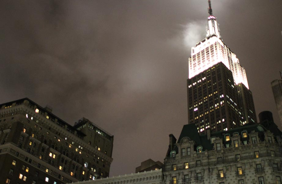 Empire State Building at night - New York City