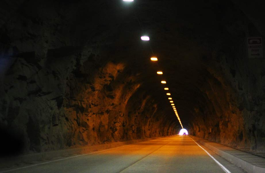 Tunnel near Yosemite National Park