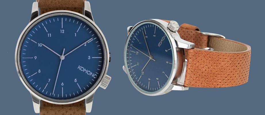 Komono Winston Cognac Blue Watch Design