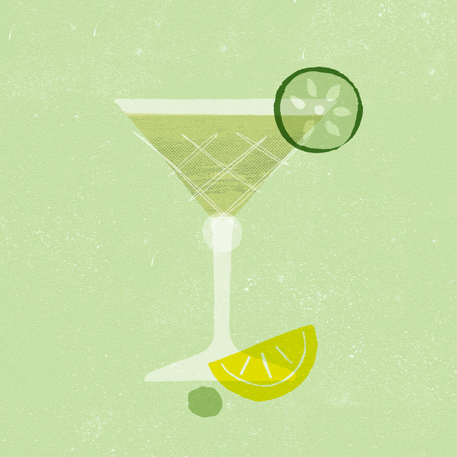 Cocktail Illustration - Graphic designer in Cornwall