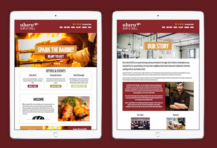 Restaurant Website Design | Graphic Designer Cornwall