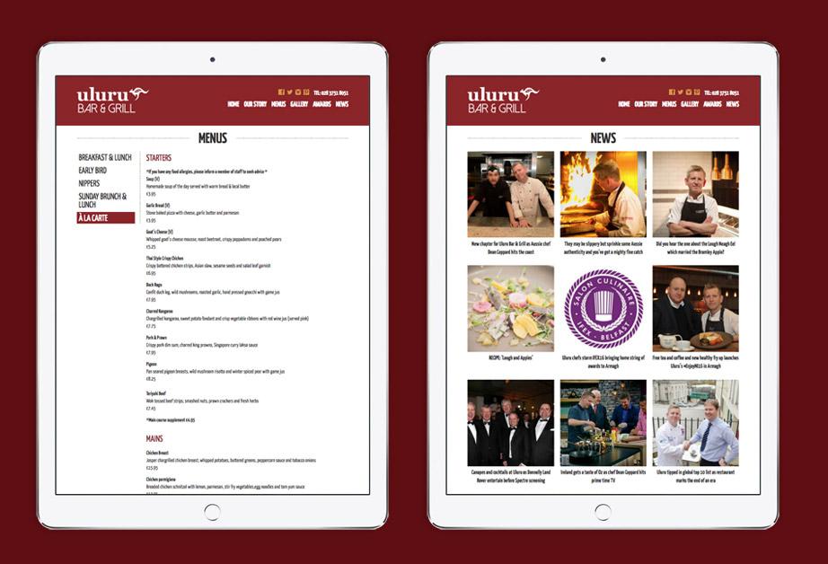 Restaurant Website Design | Graphic Designer Cornwall