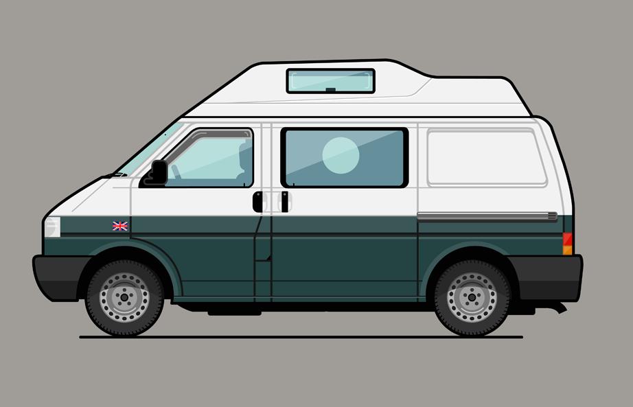 VW T4 Van Illustration