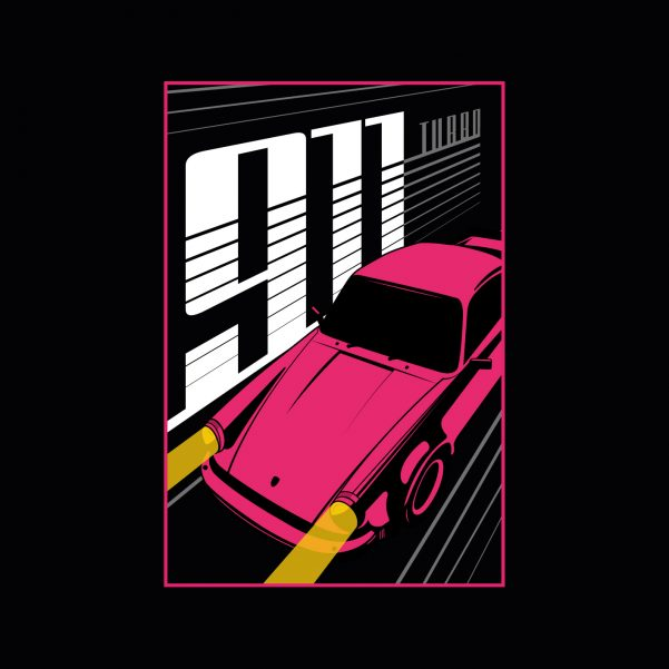 Porsche 911 Turbo Poster Print