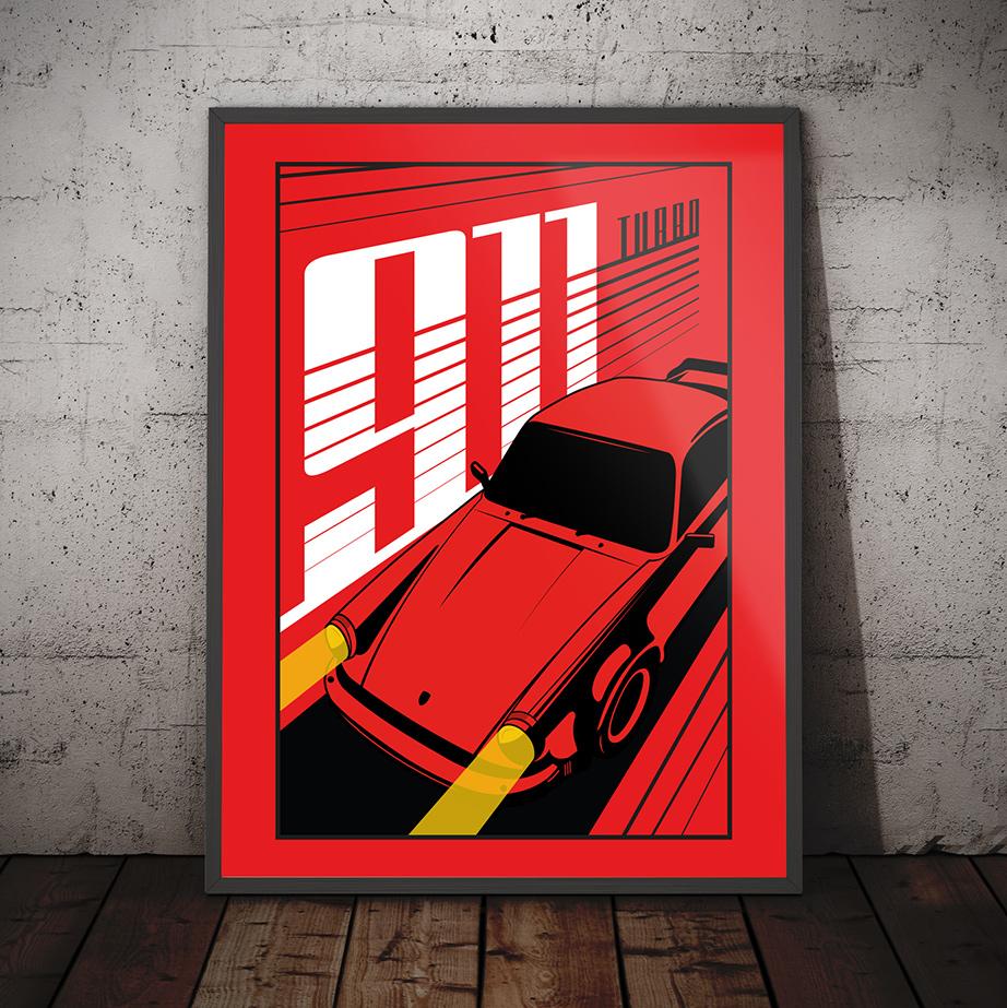 Porsche 911 Turbo Print