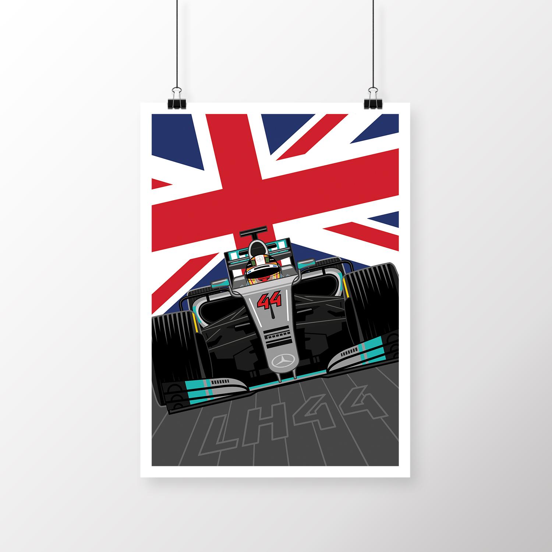 Lewis Hamilton Poster Design