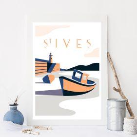 Cornwall Vintage Travel Poster Design